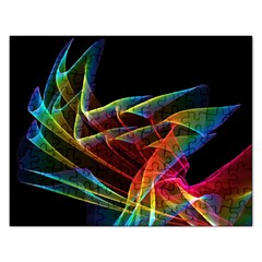 Dancing Northern Lights, Abstract Summer Sky  Jigsaw Puzzle (rectangle) by DianeClancy