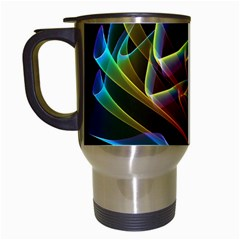 Dancing Northern Lights, Abstract Summer Sky  Travel Mug (white) by DianeClancy