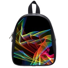 Dancing Northern Lights, Abstract Summer Sky  School Bag (small) by DianeClancy