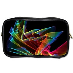Dancing Northern Lights, Abstract Summer Sky  Travel Toiletry Bag (two Sides) by DianeClancy