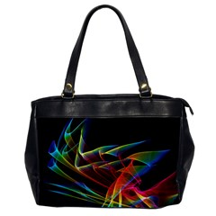 Dancing Northern Lights, Abstract Summer Sky  Oversize Office Handbag (one Side) by DianeClancy