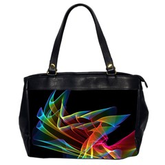 Dancing Northern Lights, Abstract Summer Sky  Oversize Office Handbag (two Sides) by DianeClancy