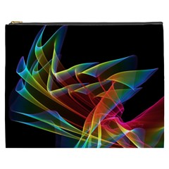 Dancing Northern Lights, Abstract Summer Sky  Cosmetic Bag (xxxl) by DianeClancy