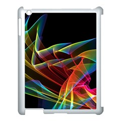 Dancing Northern Lights, Abstract Summer Sky  Apple Ipad 3/4 Case (white) by DianeClancy