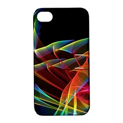 Dancing Northern Lights, Abstract Summer Sky  Apple Iphone 4/4s Hardshell Case With Stand by DianeClancy