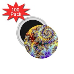 Desert Winds, Abstract Gold Purple Cactus  1 75  Button Magnet (100 Pack) by DianeClancy