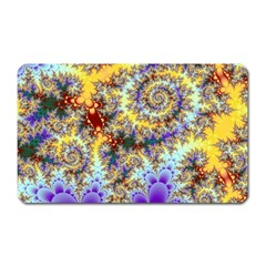 Desert Winds, Abstract Gold Purple Cactus  Magnet (Rectangular) by DianeClancy