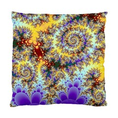 Desert Winds, Abstract Gold Purple Cactus  Cushion Case (two Sided)  by DianeClancy
