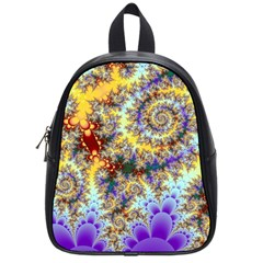 Desert Winds, Abstract Gold Purple Cactus  School Bag (small) by DianeClancy