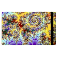 Desert Winds, Abstract Gold Purple Cactus  Apple Ipad 3/4 Flip Case by DianeClancy
