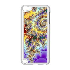 Desert Winds, Abstract Gold Purple Cactus  Apple Ipod Touch 5 Case (white) by DianeClancy