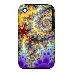 Desert Winds, Abstract Gold Purple Cactus  Apple Iphone 3g/3gs Hardshell Case (pc+silicone) by DianeClancy