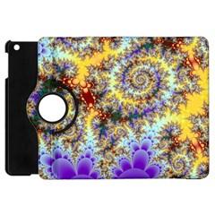 Desert Winds, Abstract Gold Purple Cactus  Apple Ipad Mini Flip 360 Case by DianeClancy