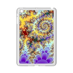 Desert Winds, Abstract Gold Purple Cactus  Apple Ipad Mini 2 Case (white) by DianeClancy