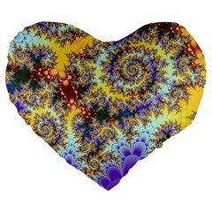 Desert Winds, Abstract Gold Purple Cactus  19  Premium Heart Shape Cushion by DianeClancy