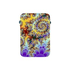 Desert Winds, Abstract Gold Purple Cactus  Apple Ipad Mini Protective Sleeve by DianeClancy