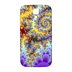 Desert Winds, Abstract Gold Purple Cactus  Samsung Galaxy S4 I9500/i9505  Hardshell Back Case by DianeClancy