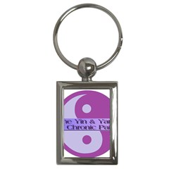 Yin & Yang Of Chronic Pain Key Chain (rectangle) by FunWithFibro