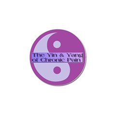 Yin & Yang Of Chronic Pain Golf Ball Marker by FunWithFibro