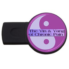 Yin & Yang Of Chronic Pain 2gb Usb Flash Drive (round) by FunWithFibro