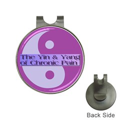 Yin & Yang Of Chronic Pain Hat Clip With Golf Ball Marker by FunWithFibro