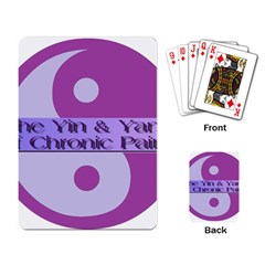 Yin & Yang Of Chronic Pain Playing Cards Single Design by FunWithFibro