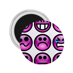 Chronic Pain Emoticons 2 25  Button Magnet by FunWithFibro