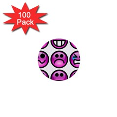 Chronic Pain Emoticons 1  Mini Button (100 Pack) by FunWithFibro