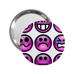 Chronic Pain Emoticons Handbag Mirror (2 25 ) by FunWithFibro