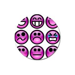Chronic Pain Emoticons Magnet 3  (round) by FunWithFibro