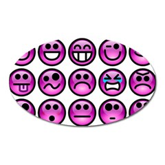 Chronic Pain Emoticons Magnet (oval) by FunWithFibro