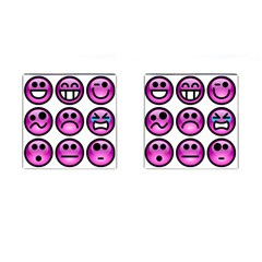 Chronic Pain Emoticons Cufflinks (square) by FunWithFibro