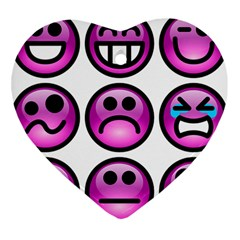 Chronic Pain Emoticons Heart Ornament (two Sides) by FunWithFibro