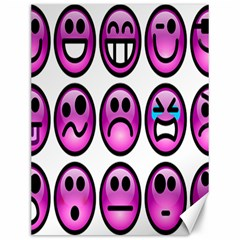 Chronic Pain Emoticons Canvas 12  X 16  (unframed) by FunWithFibro