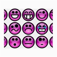 Chronic Pain Emoticons Glasses Cloth (small, Two Sided) by FunWithFibro