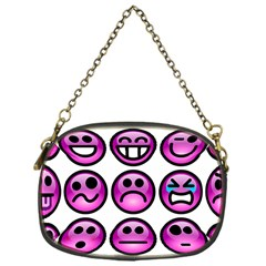 Chronic Pain Emoticons Chain Purse (one Side) by FunWithFibro