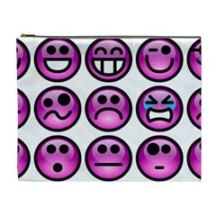 Chronic Pain Emoticons Cosmetic Bag (xl) by FunWithFibro