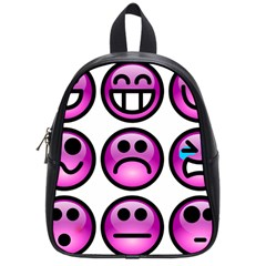 Chronic Pain Emoticons School Bag (small) by FunWithFibro