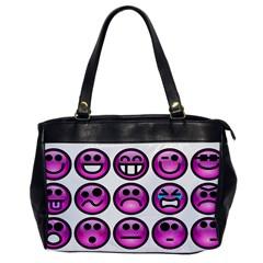 Chronic Pain Emoticons Oversize Office Handbag (one Side) by FunWithFibro