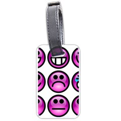 Chronic Pain Emoticons Luggage Tag (one Side) by FunWithFibro