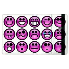 Chronic Pain Emoticons Apple Ipad 3/4 Flip Case by FunWithFibro