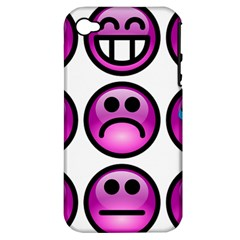 Chronic Pain Emoticons Apple Iphone 4/4s Hardshell Case (pc+silicone) by FunWithFibro