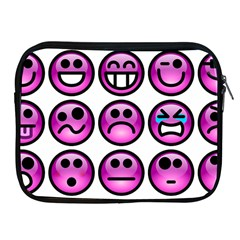 Chronic Pain Emoticons Apple Ipad Zippered Sleeve by FunWithFibro