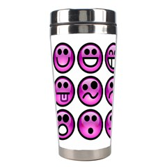 Chronic Pain Emoticons Stainless Steel Travel Tumbler by FunWithFibro