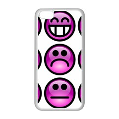Chronic Pain Emoticons Apple Iphone 5c Seamless Case (white) by FunWithFibro