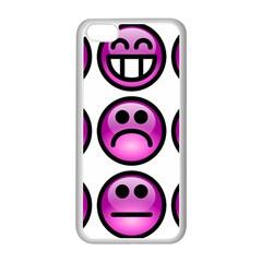 Chronic Pain Emoticons Apple Iphone 5c Seamless Case (white) by FunWithFibro