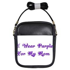 I Wear Purple For My Mom Girl s Sling Bag by FunWithFibro