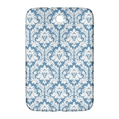 White On Light Blue Damask Samsung Galaxy Note 8 0 N5100 Hardshell Case  by Zandiepants