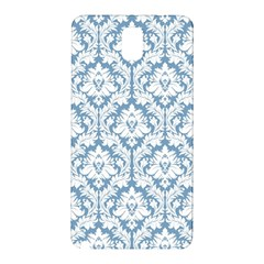 White On Light Blue Damask Samsung Galaxy Note 3 N9005 Hardshell Back Case by Zandiepants