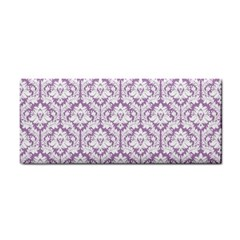 White On Lilac Damask Hand Towel by Zandiepants